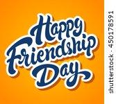 happy friendship day hand drawn ... | Shutterstock .eps vector #450178591