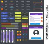 flat mobile web ui kit with...