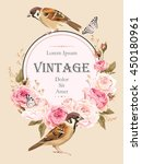 vintage card with birds | Shutterstock .eps vector #450180961