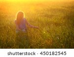 morning exercises. girl in the... | Shutterstock . vector #450182545
