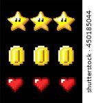8 bit   pixelart game asset... | Shutterstock .eps vector #450185044