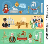 museum banners tour group of... | Shutterstock .eps vector #450189679
