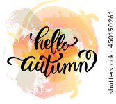 hello autumn. hand drawn... | Shutterstock .eps vector #450190261