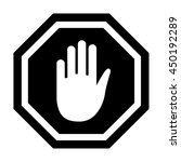vector illustration of stop icon | Shutterstock .eps vector #450192289