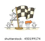 sketch of working little people ...   Shutterstock .eps vector #450199174