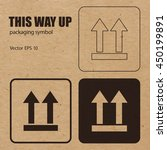 this way up vector packaging... | Shutterstock .eps vector #450199891