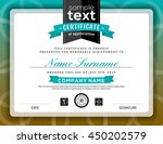 simple certificate of... | Shutterstock .eps vector #450202579