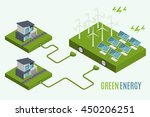 houses with alternative eco... | Shutterstock .eps vector #450206251
