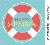 a colorful summer life saver | Shutterstock .eps vector #450209434