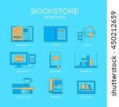 set of icons a bookstore.... | Shutterstock .eps vector #450212659