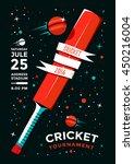 cricket tournament poster... | Shutterstock .eps vector #450216004