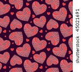 abstract background with hearts | Shutterstock .eps vector #45021691