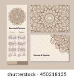 collection of ethnic cards menu ... | Shutterstock .eps vector #450218125