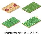 vector set sport fields. | Shutterstock .eps vector #450220621