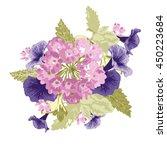 elegant bouquet with verbena... | Shutterstock .eps vector #450223684