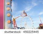 still life of colorful fun fair ... | Shutterstock . vector #450225445