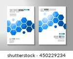 brochure template  flyer design ... | Shutterstock .eps vector #450229234
