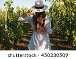 portrait of a gorgeous brunette ... | Shutterstock . vector #450230509