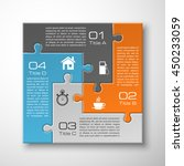 four piece puzzle business... | Shutterstock .eps vector #450233059