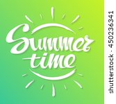 summer time background. hand... | Shutterstock .eps vector #450236341