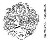 vector girl decorative... | Shutterstock .eps vector #450238285
