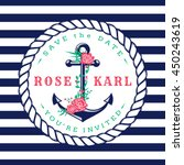 nautical wedding invitation... | Shutterstock .eps vector #450243619