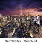 big apple after sunset   new... | Shutterstock . vector #45024733