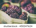 Fresh Blackberry At Market In...