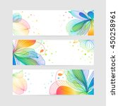 set of floral banners  flower... | Shutterstock .eps vector #450258961