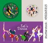 dancing people  dancer bachata  ... | Shutterstock .eps vector #450265315