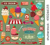vintage ice cream poster design ... | Shutterstock .eps vector #450266155