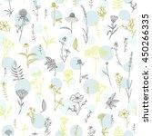 vector hand drawn medicinal...   Shutterstock .eps vector #450266335