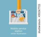 mobile service station auto.... | Shutterstock .eps vector #450267721