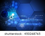 vector illustration gear wheel  ... | Shutterstock .eps vector #450268765