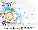 vector illustration gear wheel  ... | Shutterstock .eps vector #450268825