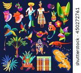 icon set. caribbean island... | Shutterstock .eps vector #450272761