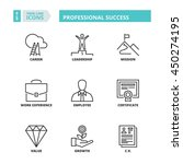 flat symbols about professional ... | Shutterstock .eps vector #450274195
