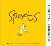 sport poster   hand drawn...   Shutterstock .eps vector #450278341