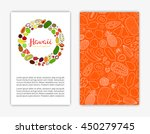 editable card templates with... | Shutterstock .eps vector #450279745