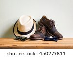 men's accessories with brown... | Shutterstock . vector #450279811