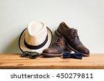 men's accessories with brown... | Shutterstock . vector #450279811