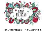 birthday bubble hand drawn... | Shutterstock .eps vector #450284455