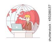 politician or global business... | Shutterstock .eps vector #450288157