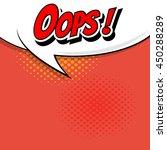 comic speech bubble  cartoon | Shutterstock .eps vector #450288289
