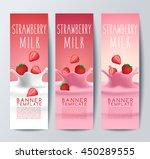 flavored creamy milk banner... | Shutterstock .eps vector #450289555