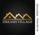 dreams village real estate... | Shutterstock .eps vector #450291031