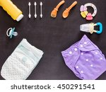 baby set of cloth diaper ... | Shutterstock . vector #450291541