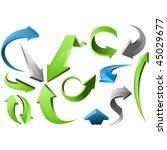 3d arrow signs | Shutterstock .eps vector #45029677