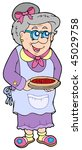 granny with cake   vector...   Shutterstock .eps vector #45029758