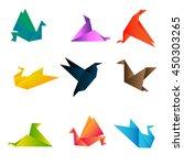origami paper bird vector... | Shutterstock .eps vector #450303265